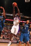 Minnesota Timberwolves v Phoenix Suns: Jason Richardson, Corey Brewer and Michael Beasley Photographic Print by Barry Gossage
