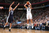 Memphis Grizzlies v Utah Jazz: Deron Williams and Greives Vasquez Photographic Print by Melissa Majchrzak