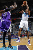 Sacramento Kings v New Orleans Hornets: David West and Samuel Dalembert Photographic Print by Layne Murdoch