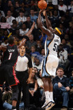 Miami Heat v Memphis Grizzlies: Zach Randolph and Chris Bosh Photographic Print by Joe Murphy