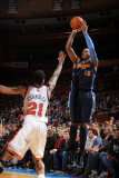 Denver Nuggets v New York Knicks: Carmelo Anthony and Wilson Chandler Photographic Print by Nathaniel S. Butler
