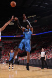 Orlando Magic v Portland Trail Blazers: Dwight Howard Photographic Print by Sam Forencich