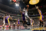 Los Angeles Lakers v Memphis Grizzlies: Mike Conley and Lamar Odom Photographic Print by Joe Murphy