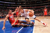 New Jersey Nets v Los Angeles Clippers: Blake Griffin and Kris Humphries Photographic Print by Noah Graham