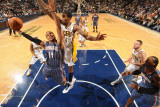 Charlotte Bobcats v Indiana Pacers: D. J. Augustine and Solomon Jones Photographic Print by Ron Hoskins