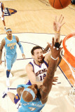 Denver Nuggets v Phoenix Suns: Hedo Turkoglu and Al Harrington Photographic Print by Barry Gossage