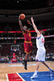Cleveland Cavaliers v Philadelphia 76ers: J.J. Hickson and Spencer Hawes Photographic Print by David Dow