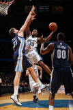 Memphis Grizzlies v Washington Wizards: Trevor Booker and Marc Gasol Photographic Print by Ned Dishman