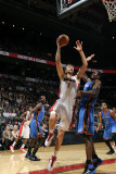 Oklahoma City Thunder v Toronto Raptors: Serge Ibaka and Andrea Bargnani Photographic Print by Ron Turenne