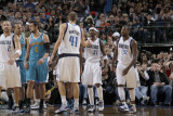 New Orleans Hornets v Dallas Mavericks: Dirk Nowitzki and Jason Terry Photographic Print by Danny Bollinger