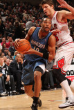 Minnesota Timberwolves v Chicago Bulls: Wayne Ellington and Kyle Korver Photographic Print by Ray Amati