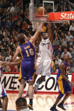Los Angeles Lakers v Los Angeles Clippers: Eric Bledsoe and Pau Gasol Photographic Print by Noah Graham