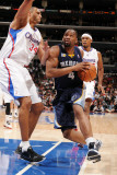 Memphis Grizzlies v Los Angeles Clippers: Sam Young and Brian Cook Photographic Print by Noah Graham