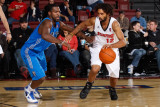 Texas Legends v Idaho Stampede: Salim Stoudamire and Justin Dentmon Photographic Print by Otto Kitsinger
