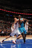 New Orleans Hornets v Los Angeles Clippers: Blake Griffin and Emeka Okafor Photographic Print by Noah Graham