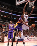 Los Angeles Lakers v Los Angeles Clippers: Kobe Bryant and Al-Farouq Aminu Photographic Print by Noah Graham