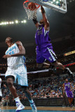 Sacramento Kings v New Orleans Hornets: Jason Thompson and Emeka Okafor Photographic Print by Chris Graythen
