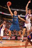 Minnesota Timberwolves v Phoenix Suns: Luke Ridnour and Goran Dragic Photographic Print by Barry Gossage