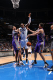 Phoenix Suns v Orlando Magic: Hedo Turkoglu and Dwight Howard Photographic Print by Andrew Bernstein