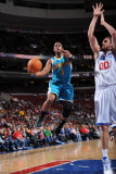 New Orleans Hornets v Philadelphia 76ers: Chris Paul and Spencer Hawes Photographic Print by David Dow