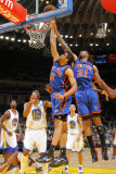 New York Knicks v Golden State Warriors: Landry Fields and Wilson Chandler Photographic Print by Rocky Widner