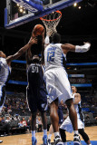 Memphis Grizzlies v Orlando Magic: Zach Randolph and Dwight Howard Photographic Print by Fernando Medina