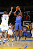 New York Knicks v Golden State Warriors: Toney Douglas and Monta Ellis Photographic Print by Rocky Widner