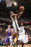 Los Angeles Lakers v Utah Jazz: Ronnie Price Photographic Print by Melissa Majchrzak