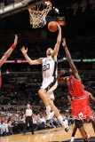 Chicago Bulls v San Antonio Spurs: Manu Ginobili and Luol Deng Photographic Print