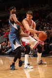 Minnesota Timberwolves v Chicago Bulls: Kyle Korver and Corey Brewer Photographic Print by Ray Amati