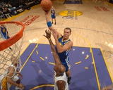 Golden State Warriors v Los Angeles Lakers: Andris Biedrins and Lamar Odom Photographic Print by Noah Graham