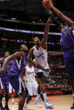 Sacramento Kings v Los Angeles Clippers: DeAndre Jordan, Samuel Dalembert and Jason Thompson Photographie par Noah Graham