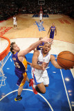 Los Angeles Lakers v Los Angeles Clippers: Eric Gordon and Pau Gasol Photographic Print by Noah Graham
