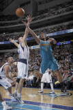 New Orleans Hornets v Dallas Mavericks: Marco Belinelli and Brian Cardinal Photographic Print by Danny Bollinger