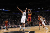 Cleveland Cavaliers v San Antonio Spurs: Ramon Sessions and Tim Duncan Photographic Print by D. Clarke Evans