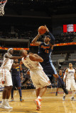 Denver Nuggets v Charlotte Bobcats: Boris Diaw and Carmelo Anthony Photographic Print by Kent Smith