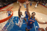 New York Knicks v Los Angeles Clippers: Landry Fields and Eric Bledsoe Photographic Print by Noah Graham