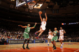 Boston Celtics v New York Knicks: Danilo Gallinari, Paul Pierce and Ray Allen Photographic Print by Lou Capozzola