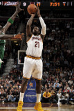 Boston Celtics v Cleveland Cavaliers: J.J. Hickson Photographic Print by David Liam Kyle