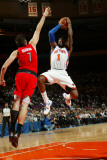 Toronto Raptors v New York Knicks: Amar'e Stoudemire and Andrea Bargnani Photographic Print by Ray Amati