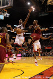 Cleveland Cavaliers v Miami Heat: Mo Wlliams and Chris Bosh Photographic Print by Mike Ehrmann