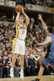 Orlando Magic v Indiana Pacers: Mike Dunleavy and J. J. Redick Photographic Print by Ron Hoskins