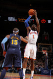 Denver Nuggets v New York Knicks: Amar'e Stoudemire and Carmelo Anthony Photographic Print by Nathaniel S. Butler