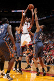 Charlotte Bobcats v Miami Heat: Chris Bosh Photographic Print by Andrew Bernstein