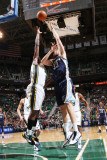 Memphis Grizzlies v Utah Jazz: Marc Gasol and Al Jefferson Photographic Print by Melissa Majchrzak