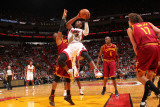 Cleveland Cavaliers v Miami Heat: Dwyane Wade Photographic Print by Victor Baldizon