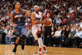 Charlotte Bobcats v Miami Heat: Eddie House Photographic Print by Andrew Bernstein