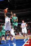Boston Celtics v Philadelphia 76ers: Rajon Rondo and Andre Iguodala Photographic Print by Jesse D. Garrabrant
