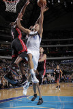 Miami Heat v Dallas Mavericks: Dirk Nowitzki and Dwyane Wade Photographic Print by Glenn James