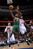 Milwaukee Bucks v Philadelphia 76ers: John Salmons Photographic Print by Jesse D. Garrabrant